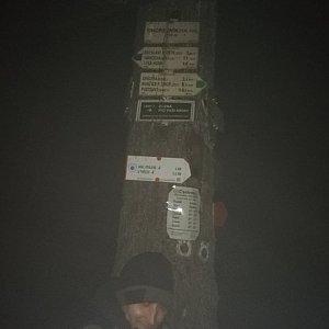 Luki Kraus na vrcholu Ondřejník - Vrchol (3.1.2021 5:03)