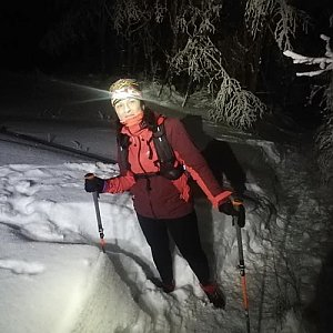 Kateřina Turčeková na vrcholu Ondřejník - Vrchol (15.1.2021 18:00)
