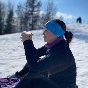 Nikalasova na vrcholu Ondřejník - Vrchol (21.2.2021 12:08)