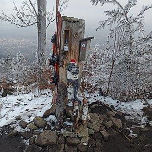 Petr Petrik na vrcholu Ondřejník - Vrchol (1.3.2021 16:51)