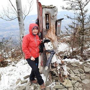 MUDr.Svatopluk Kunčar na vrcholu Ondřejník - Vrchol (11.3.2021 11:51)