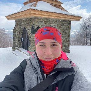 Nikalasova na vrcholu Ondřejník - Vrchol (22.3.2021 9:49)