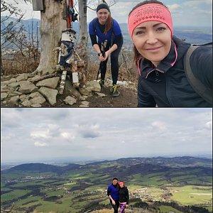 Michelle Sýkorová na vrcholu Ondřejník - Vrchol (1.5.2021 10:32)