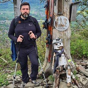 Jiří Gryz na vrcholu Ondřejník - Vrchol (23.5.2021 10:40)