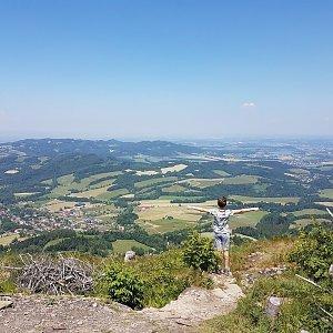 Marcela Kubíčková na vrcholu Ondřejník - Vrchol (19.6.2021 12:20)