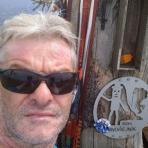 Jaroslav Macura na vrcholu Ondřejník - Vrchol (5.7.2021 13:12)