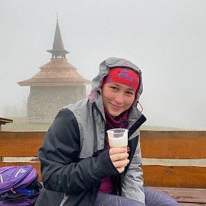Nikalasova na vrcholu Ondřejník - Vrchol (2.4.2021 10:04)
