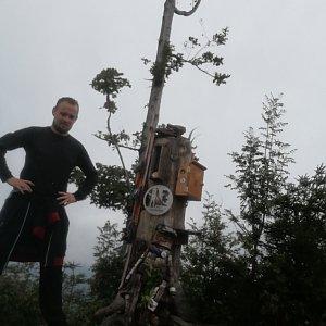 Jan Zamarski na vrcholu Ondřejník - Vrchol (30.8.2021 12:35)