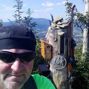 Li Be na vrcholu Ondřejník - Vrchol (8.9.2021 14:02)