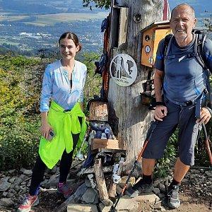 MUDr.Svatopluk Kunčar na vrcholu Ondřejník - Vrchol (26.9.2021 11:49)