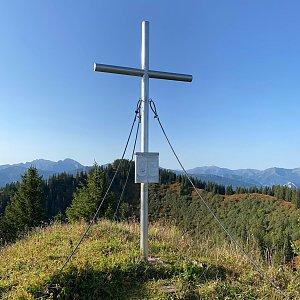 Martin Malý na vrcholu Wolfsbacherturm (26.9.2021 9:05)