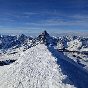Honza na vrcholu Breithorn (14.1.2020 14:35)