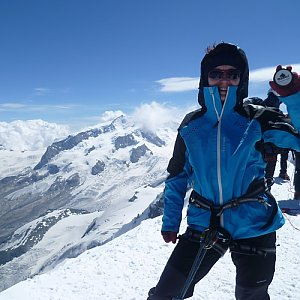 Anna na vrcholu Breithorn (3.8.2012 11:46)