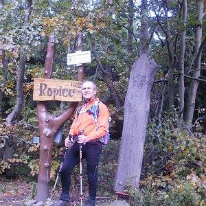 Čestmír Kubíček na vrcholu Ropice (11.10.2019 12:09)