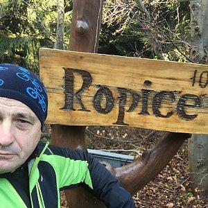 Jarek na vrcholu Ropice (23.11.2019 11:45)
