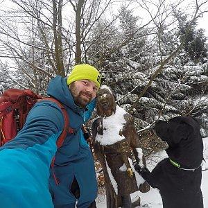 Pvlzck na vrcholu Ropice (19.1.2018 7:16)