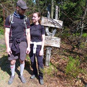Paja&Tom na vrcholu Ropice (28.4.2018 9:09)