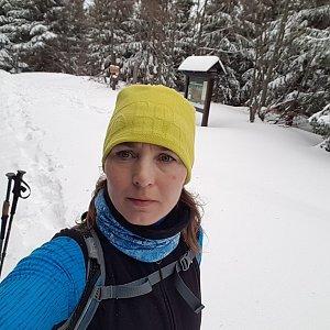 Marcela Kubíčková na vrcholu Ropice (22.2.2020 11:15)