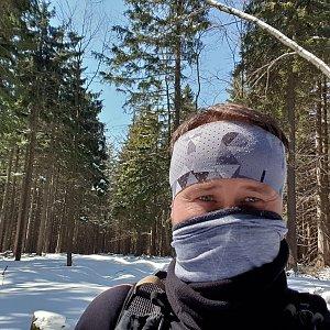 Igor Gluza na vrcholu Ropice (31.3.2020 14:42)