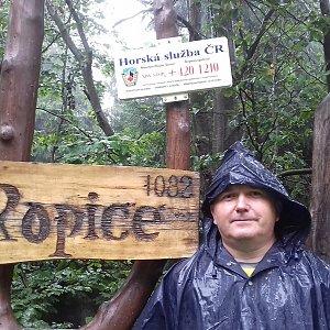 Michael na vrcholu Ropice (6.9.2020 12:12)