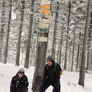Vojtěch Horák na vrcholu Ropice (24.2.2018)