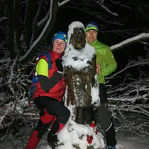 Petra Kosarkova na vrcholu Ropice (31.12.2020 16:50)