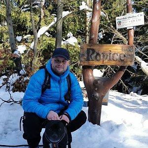 Tomáš Mucha na vrcholu Ropice (21.2.2021 11:31)