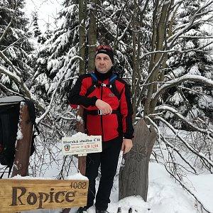 Jiří P na vrcholu Ropice (23.2.2019 14:32)