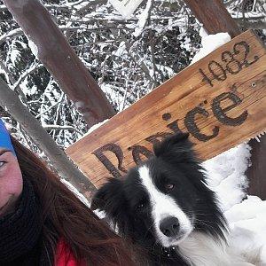 Paula Siudová na vrcholu Ropice (24.2.2019 11:00)