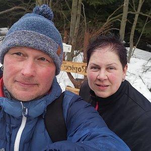 Petr Rzeplinski na vrcholu Ropice (9.3.2019 15:35)