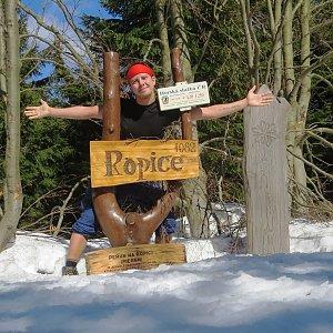 Jan Rendl na vrcholu Ropice (23.3.2019 12:58)