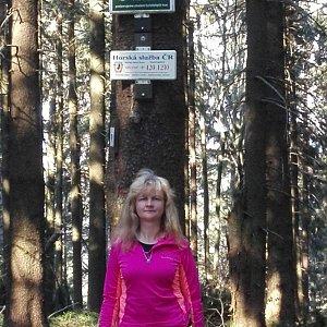 Lenka Sztymonová na vrcholu Ropice (22.4.2019 17:03)