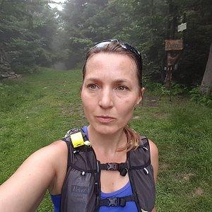 Marcela Kubíčková na vrcholu Ropice (17.7.2021 11:10)