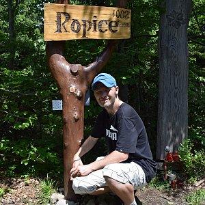David Dudzik na vrcholu Ropice (9.6.2019 13:28)