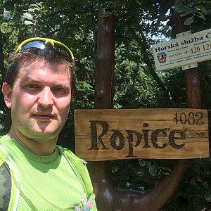 Radim Škrabánek na vrcholu Ropice (16.7.2019 12:46)