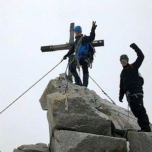 Martin Malý na vrcholu Olperer (10.7.2021 12:00)