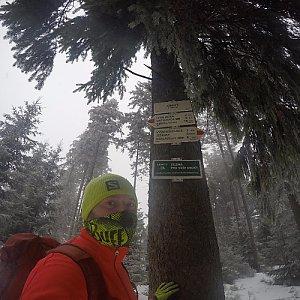 Pvlzck na vrcholu Zimný (3.1.2018 1:17)