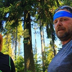 Martin a Jana Halamíčkovi na vrcholu Zimný (6.5.2018 11:58)