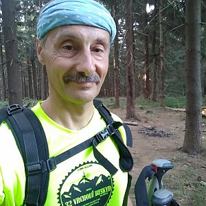Jiří Sumbal na vrcholu Zimný (18.8.2018 7:04)