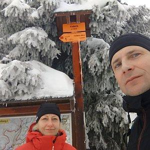 stebrony na vrcholu Zimný (31.12.2018 11:35)