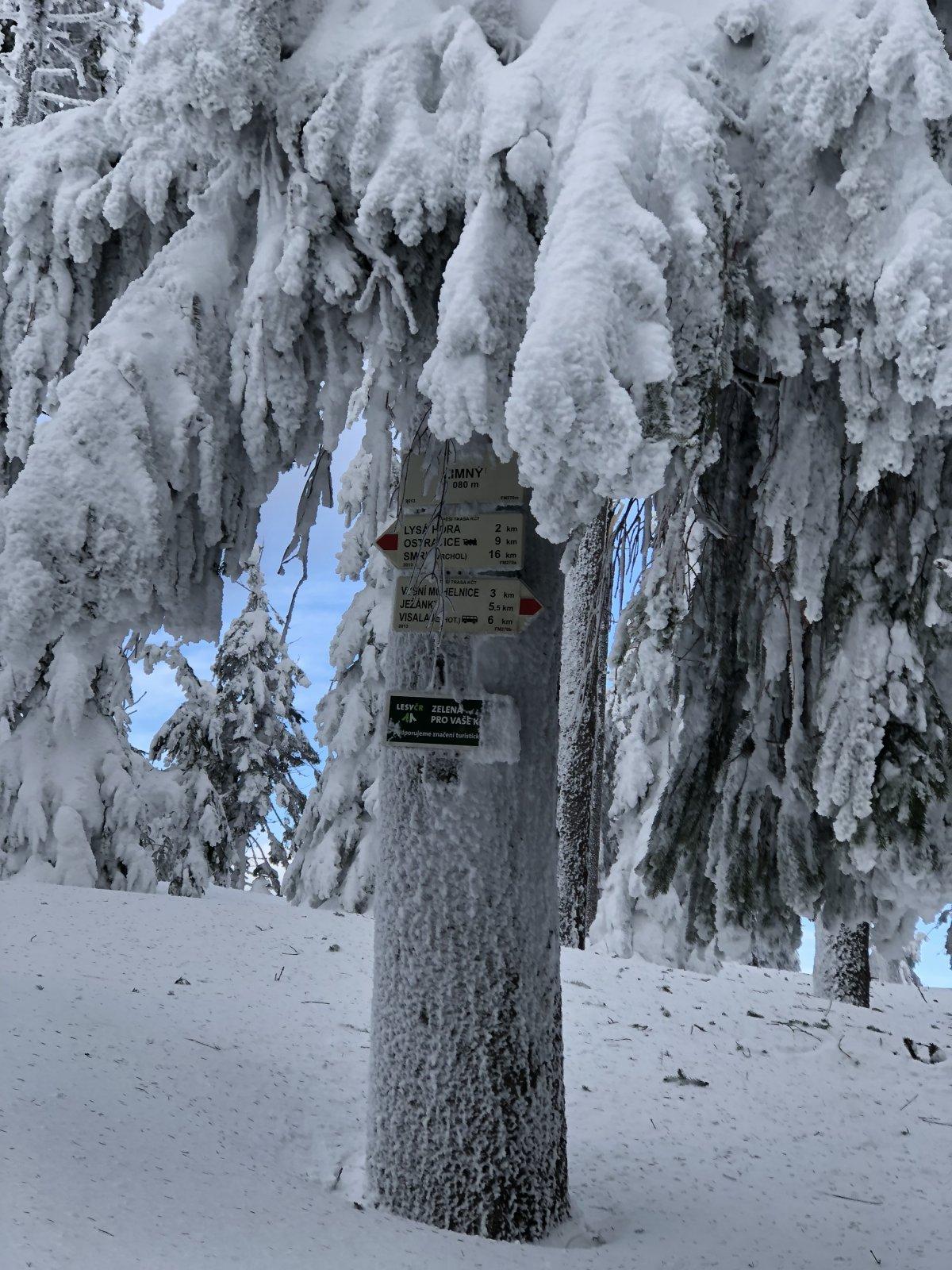 Zuzka Beyerová na vrcholu Zimný (15.1.2019 10:45)