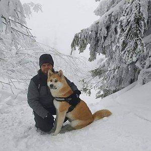 Johny na vrcholu Zimný (16.1.2019 12:30)