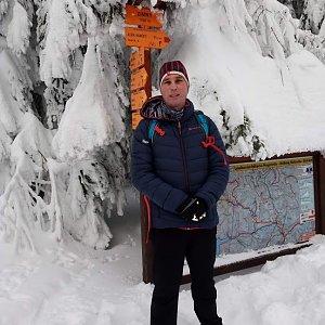 Michael Leppan na vrcholu Zimný (20.1.2019 14:25)