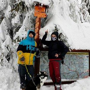 Nikol Podesvova na vrcholu Zimný (27.1.2019 14:00)
