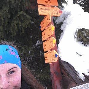Paula Siudová na vrcholu Zimný (2.2.2019 10:25)