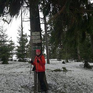 dana na vrcholu Zimný (9.3.2019 9:37)