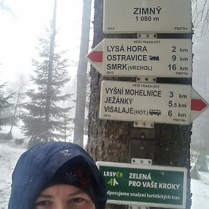 Jan Rendl na vrcholu Zimný (9.3.2019 12:50)