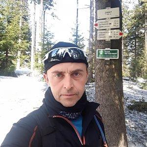 Pavel Skřičík na vrcholu Zimný (30.3.2019 12:53)
