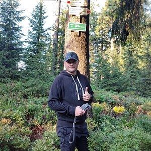 Tomáš Mucha na vrcholu Zimný (3.9.2021 18:00)