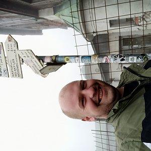 Petr Petrik na vrcholu Klínovec (11.7.2020 8:00)